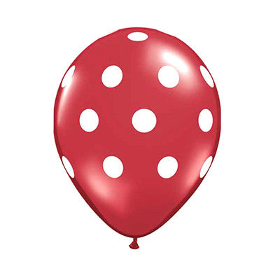 Polka Dot Balloons 11 inch - Red