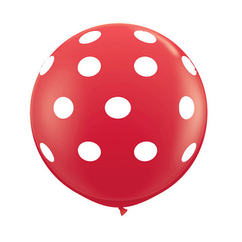 Polka Dot Balloons 36 in - Red