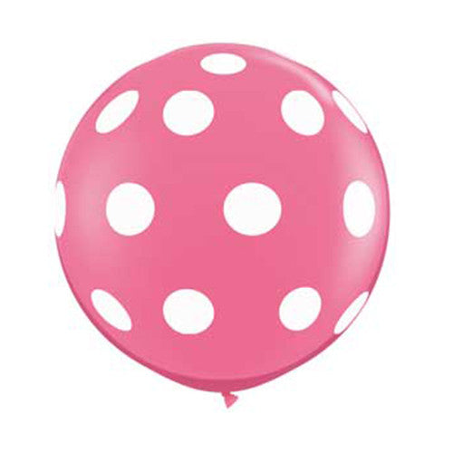 Polka Dot Balloons 36 in - Rose Pink