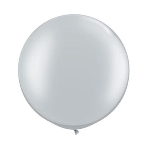 Balloons Round 30 in - Silver