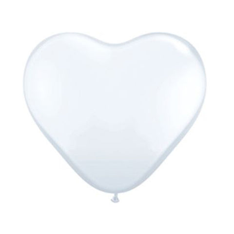 Heart Balloon 36 in - White
