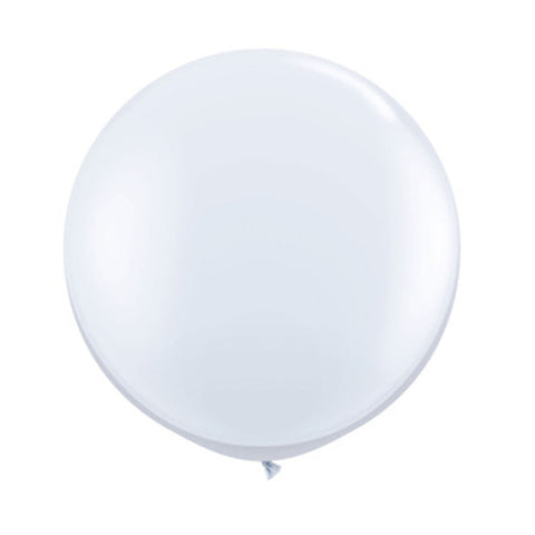 Balloons Round 36 in - White