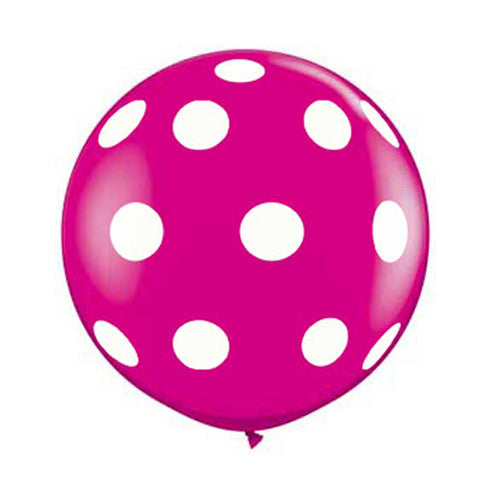 Polka Dot Balloons 36 in - Wildberry