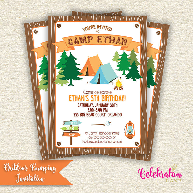 Outdoor Camping Invitation
