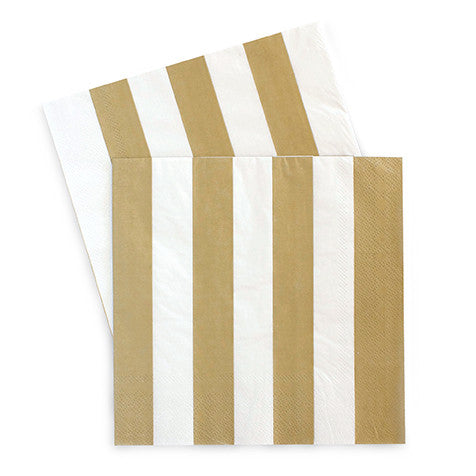 Gold Crush Striped Napkins (Pack of 20)