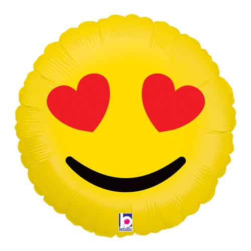 Emoji Balloon (Heart Eyes)