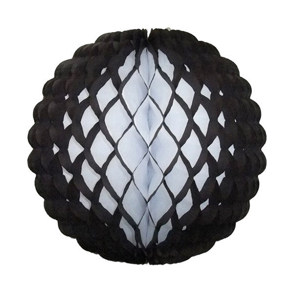 Honeycomb Tissue Ball 14 in - Black Puff