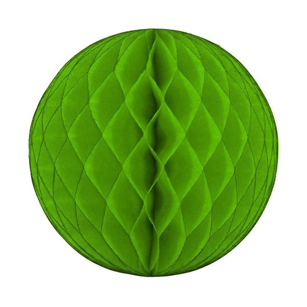 Honeycomb Tissue Ball - Lime Green