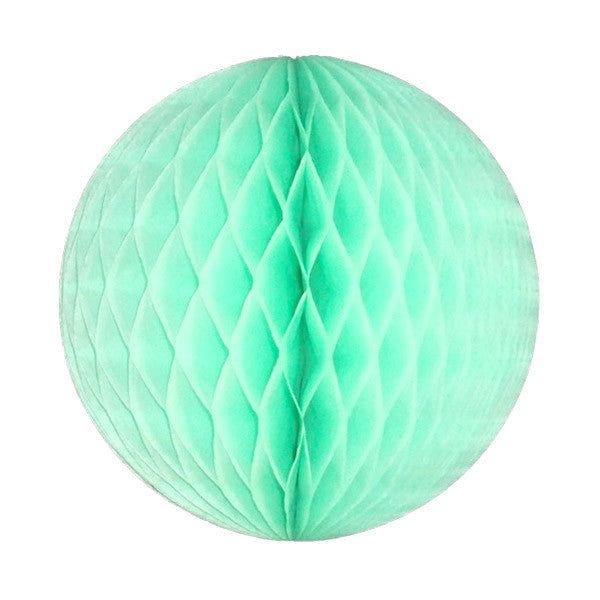 Mint Green Honeycomb Tissue Ball Party Decor