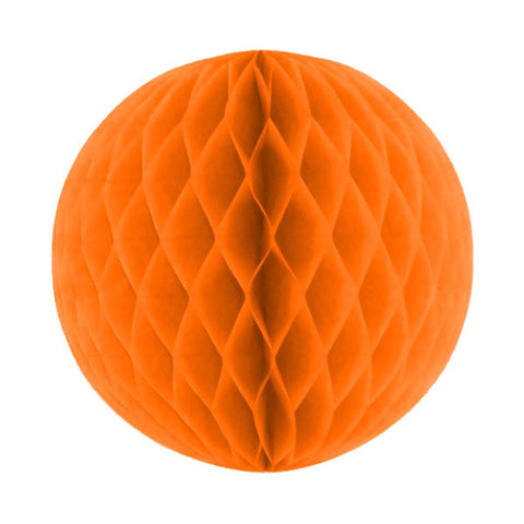 Honeycomb Tissue Ball - Orange