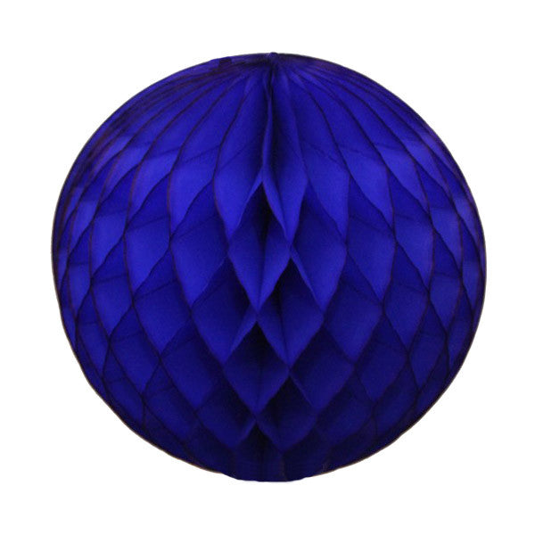 Honeycomb Tissue Ball - Royal Blue