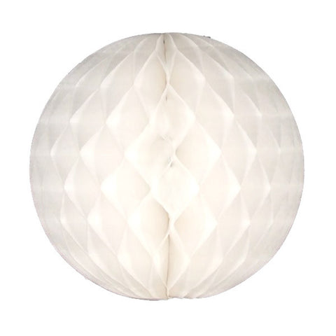 Honeycomb Tissue Ball - White