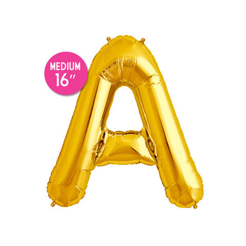 Gold Letter A Balloon - 16 in