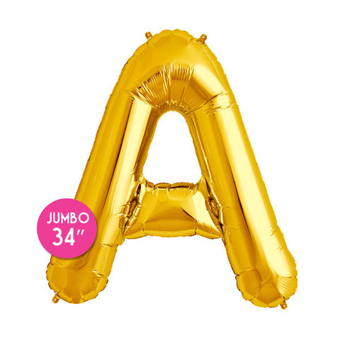 Gold Letter A Balloon - 34 in