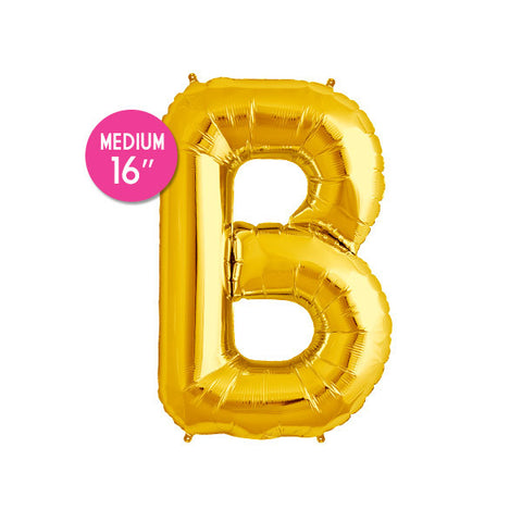 Gold Letter B Balloon - 16 in