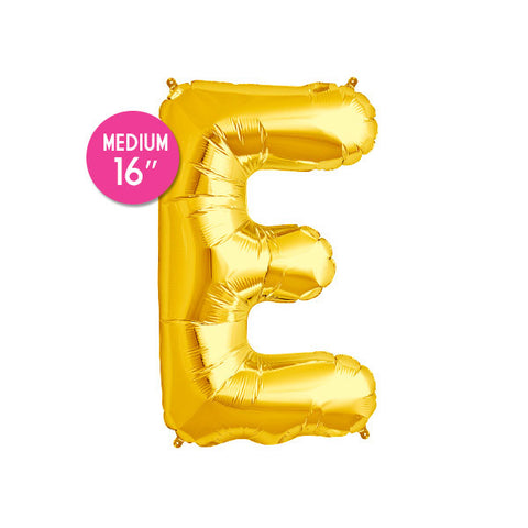 Gold Letter E Balloon - 16 in