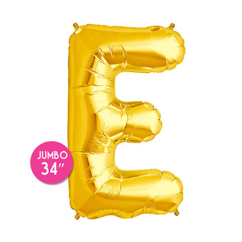 Gold Letter E Balloon - 34 in