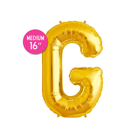 Gold Letter G Balloon - 16 in