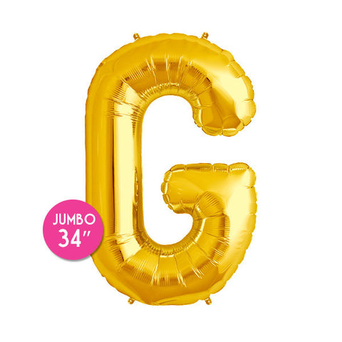 Gold Letter G Balloon - 34 in