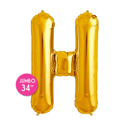 Gold Letter H Balloon - 34 in