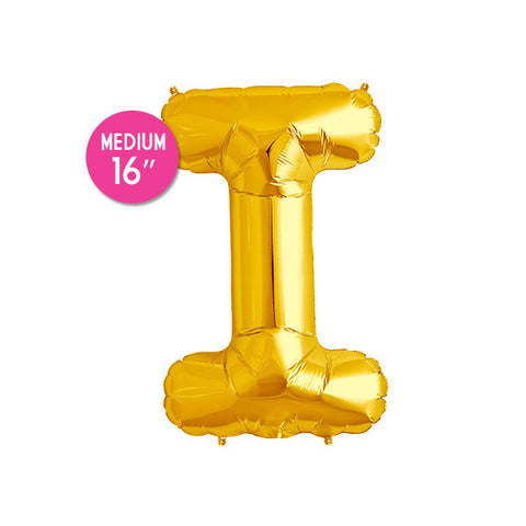 Gold Letter I Balloon - 16 in