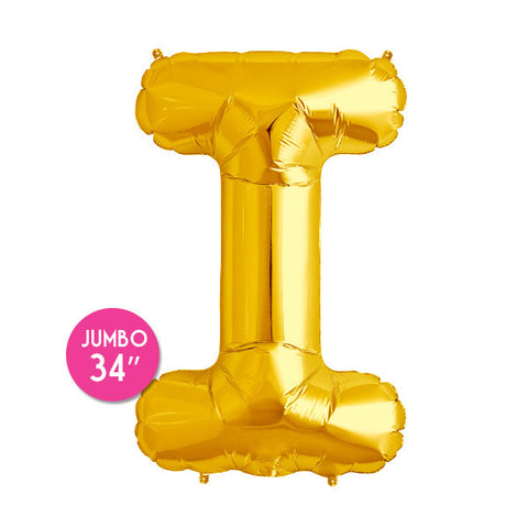 Gold Letter I Balloon - 34 in