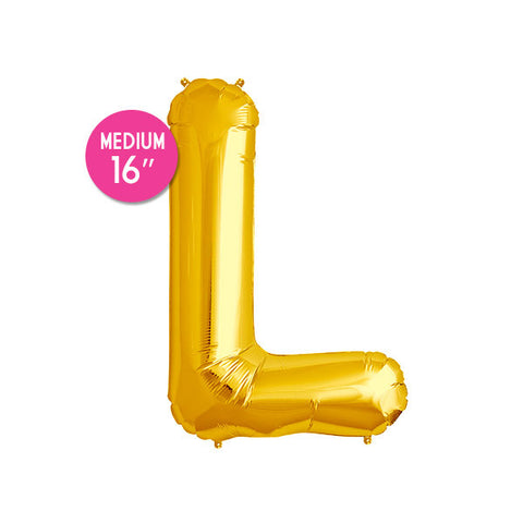 Gold Letter L Balloon - 16 in