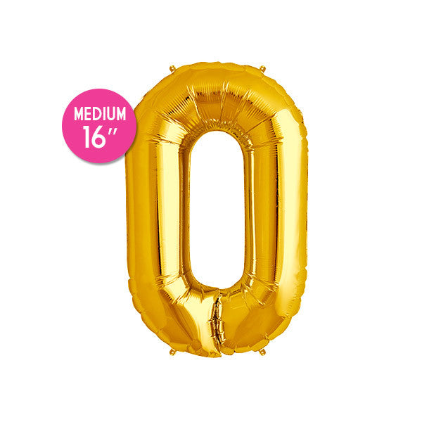 Gold Letter O Balloon - 16 in