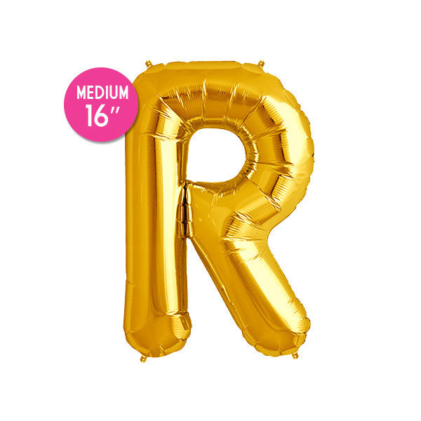 Gold Letter R Balloon - 16 in