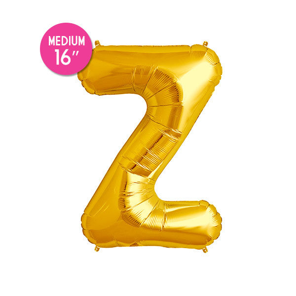 Gold Letter Z Balloon - 16 in
