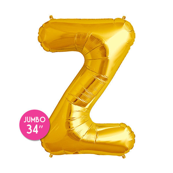 Gold Letter Z Balloon - 34 in