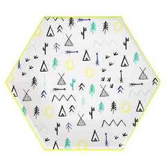 Let's Explore Large Camping Party Plates - Little Explorer