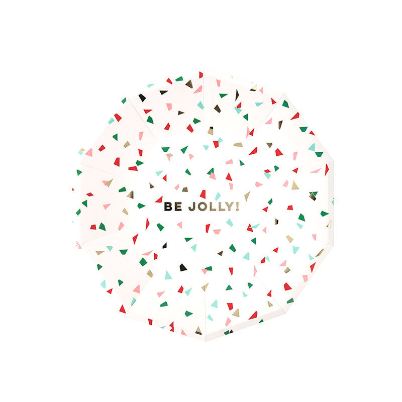 Meri Meri Be Jolly Confetti Small Christmas Plates