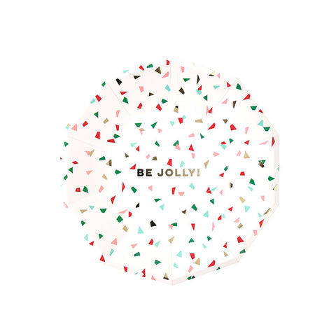 Be Jolly Confetti Small Christmas Plates