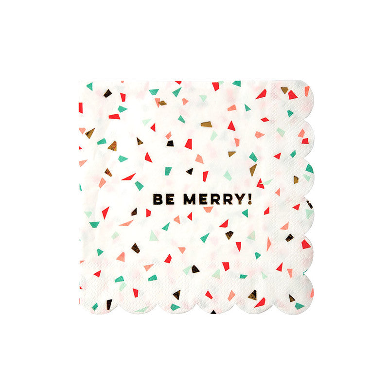 Be Jolly Confetti Large Christmas Napkins