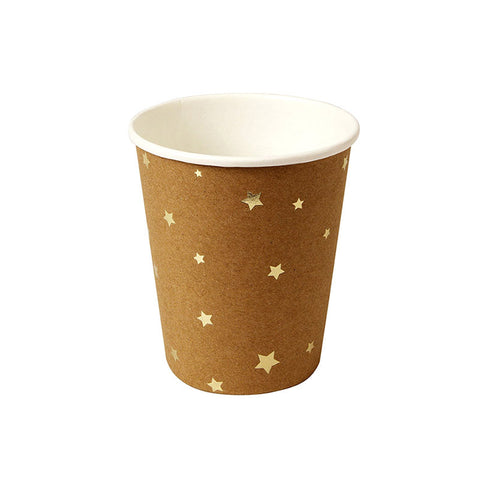 Kraft Star Paper Party Cups