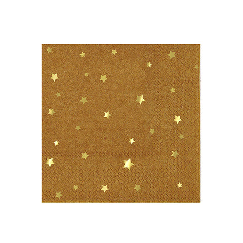 Kraft Star Large Paper Napkins