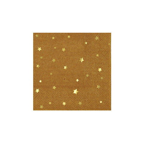 Kraft Star Small Paper Napkins