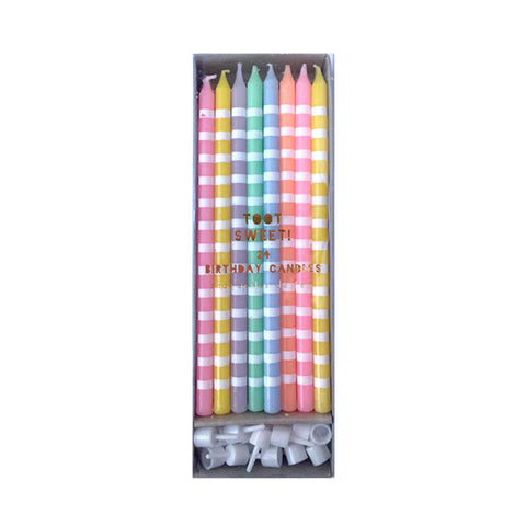 Tall Pastel Candles - 24 Count