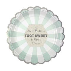 Mint Stripes Party Plates