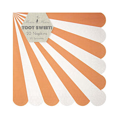 Orange Stripes Plates