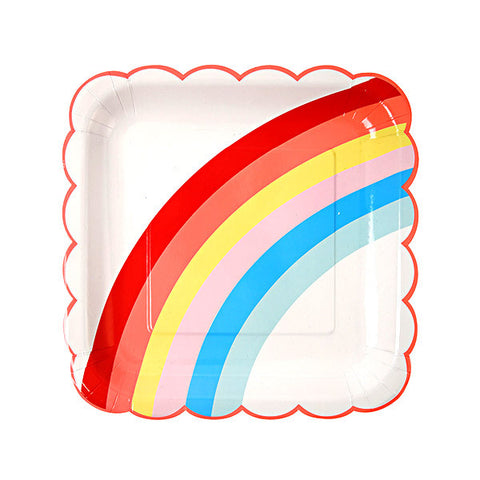 Rainbow 9x9 inch Party Plates