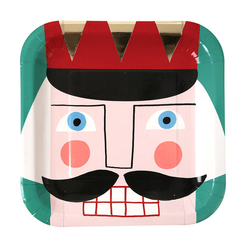 Nutcracker Square Christmas Plates
