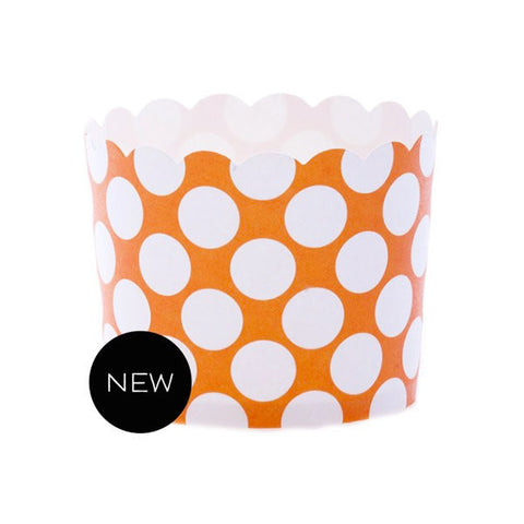 Baking Cups - Orange Dot (CLEARANCE)