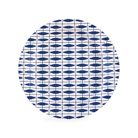 Nautical Navy Blue Dessert Plates (Pack of 12)