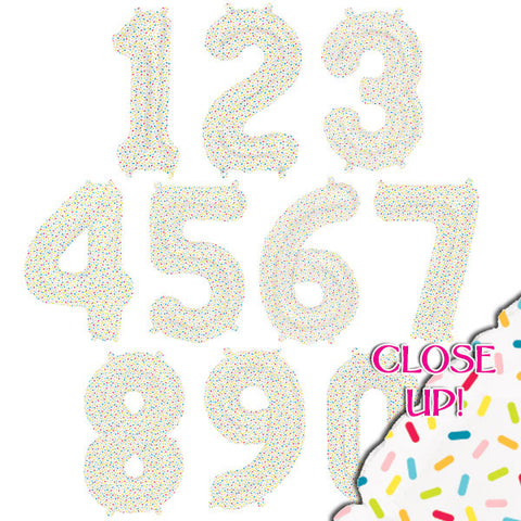 Sprinkles Number Balloons - 16 inch
