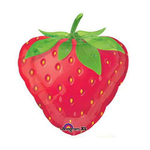 Strawberry Mylar Foil Balloon Shape