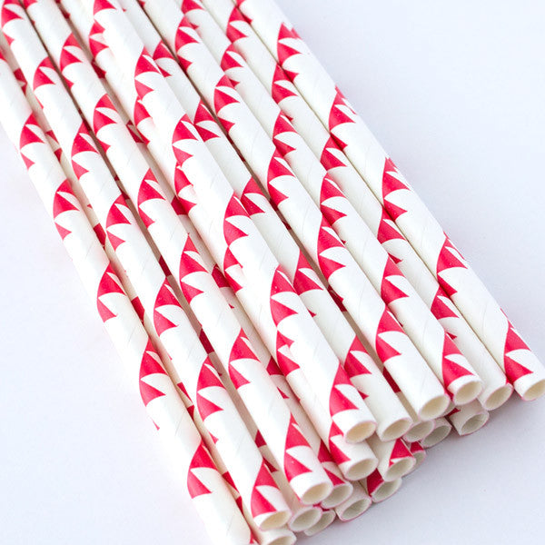 Paper Straws - Red Bunting