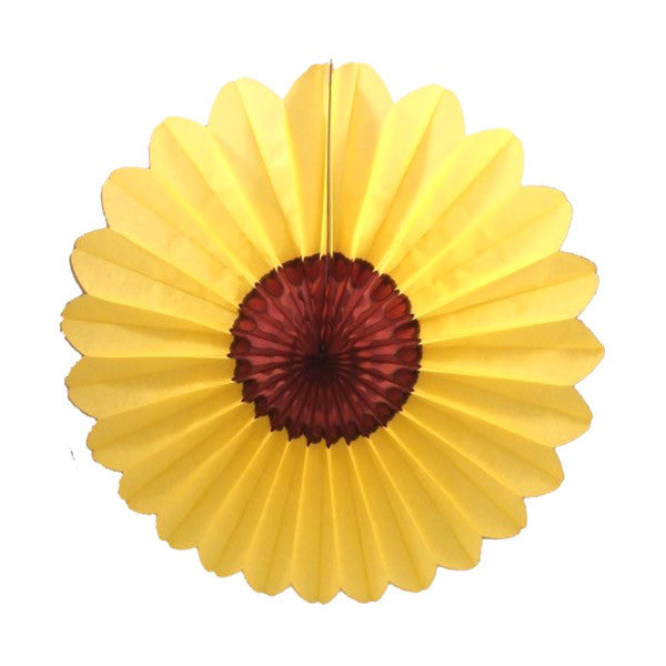 Large Sunflower Tissue Fan 27 inch - Spring Backdrop Decor