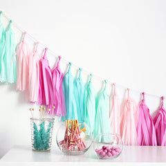 Tissue Tassel Garland Kit - Candy Shoppe
